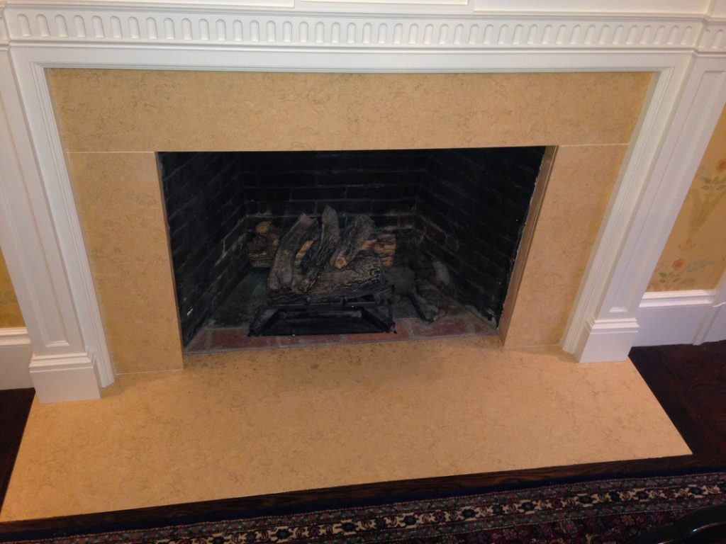 Fireplace facade cream