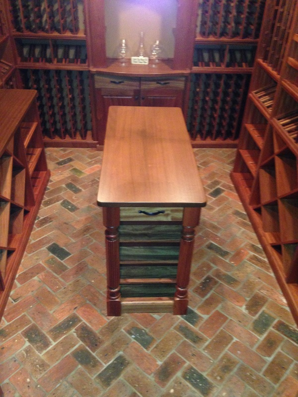 Wine cellar floor detail