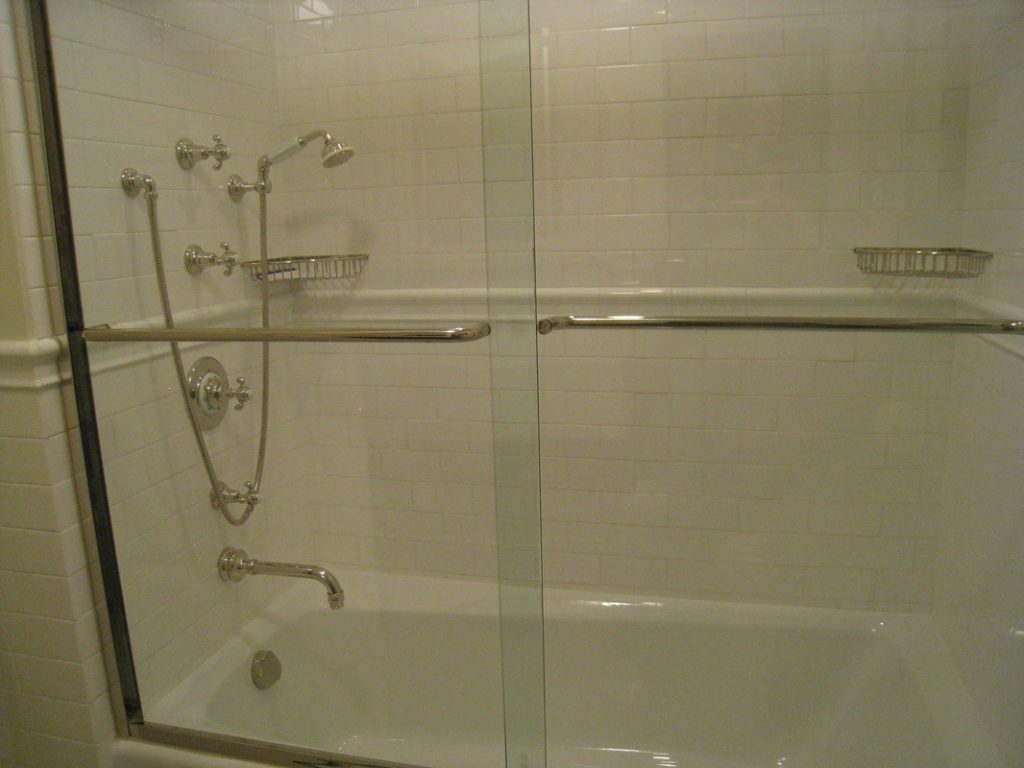 Large master shower