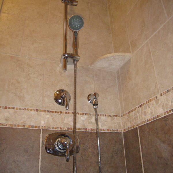 Master shower detail