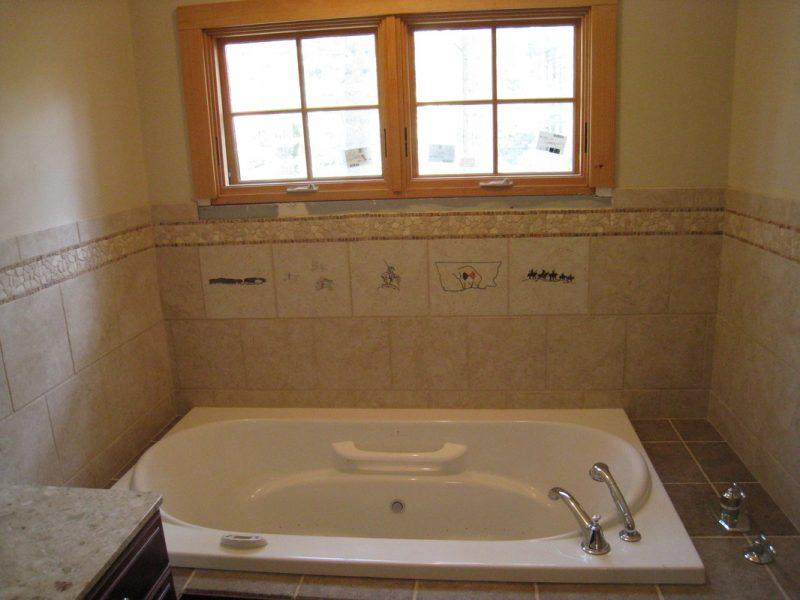 Master bath detail tile