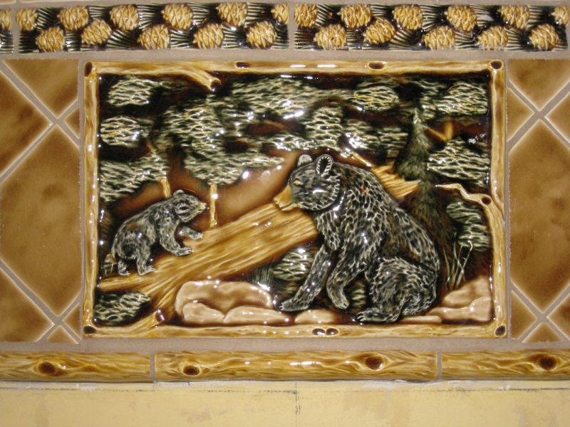 Custom tile – Bear motif