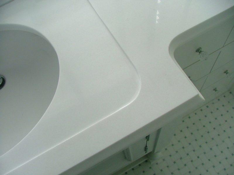 Master bath countertop detail