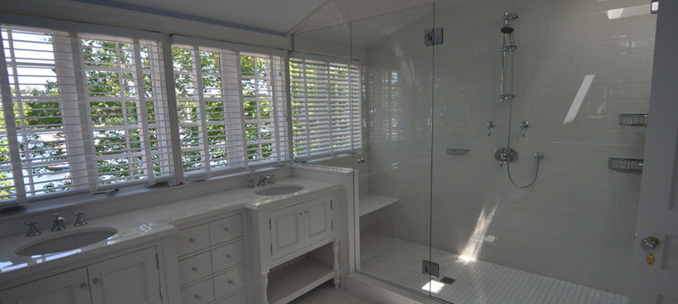Master bath – White wide view