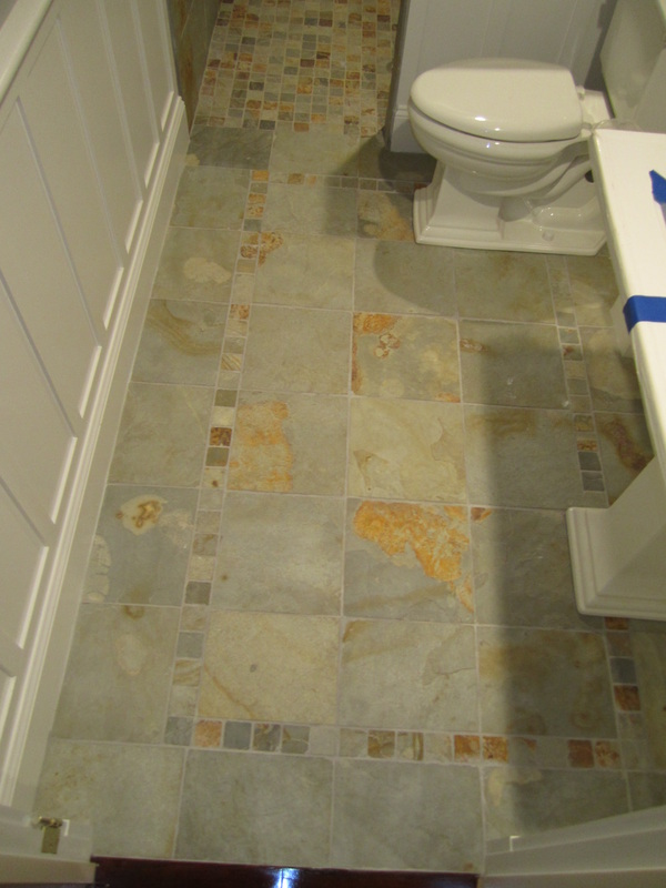 Large Tile Shower – Floor detail