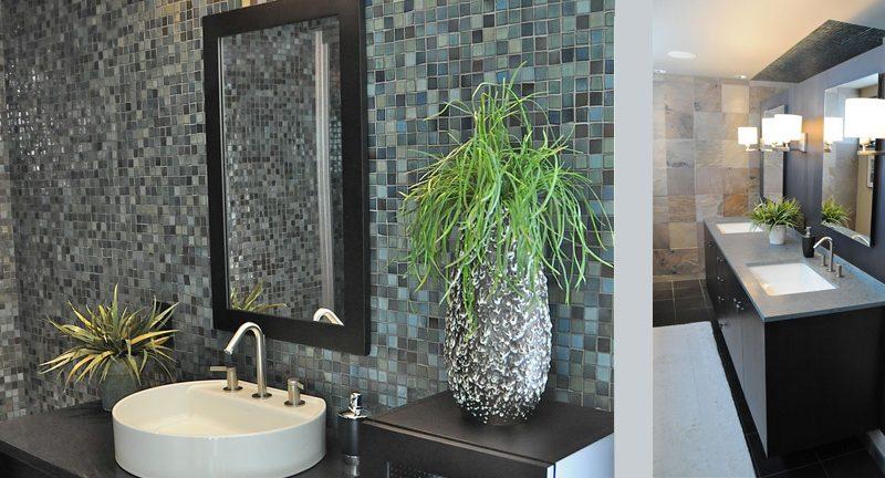 Modern Bath in Grey