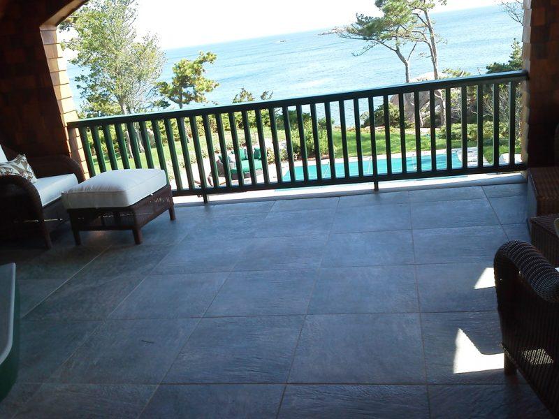 Large tile patio