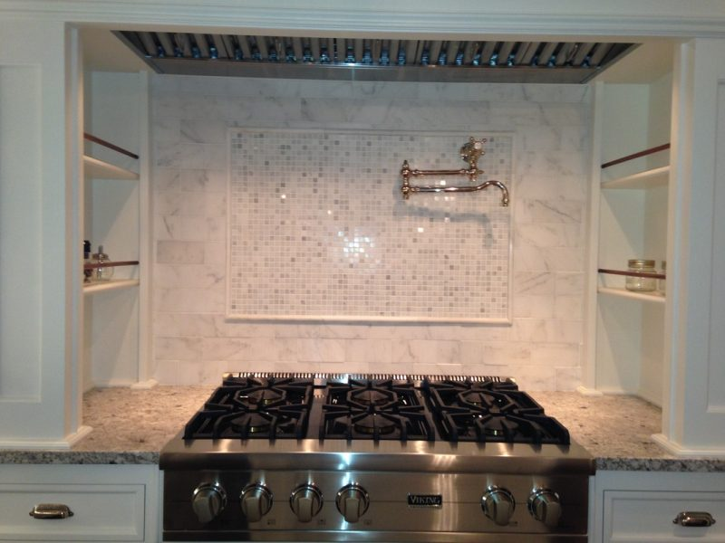 Stove backsplash