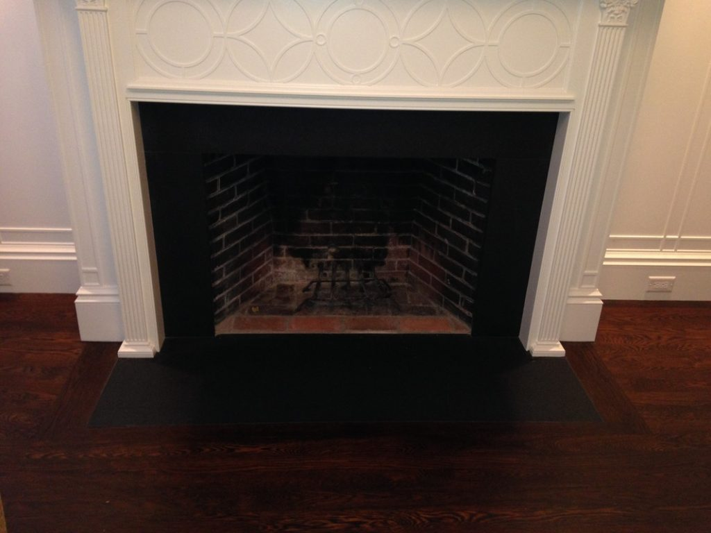 Fireplace facade black