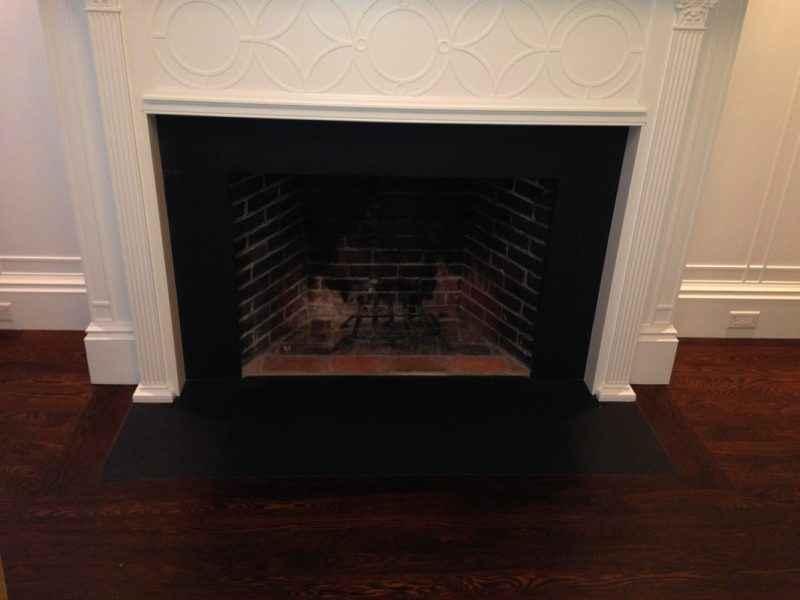 Fireplace facade black