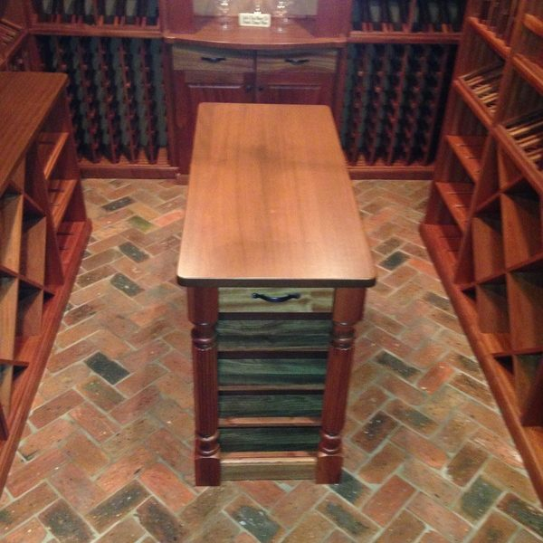 Wine cellar floor detail