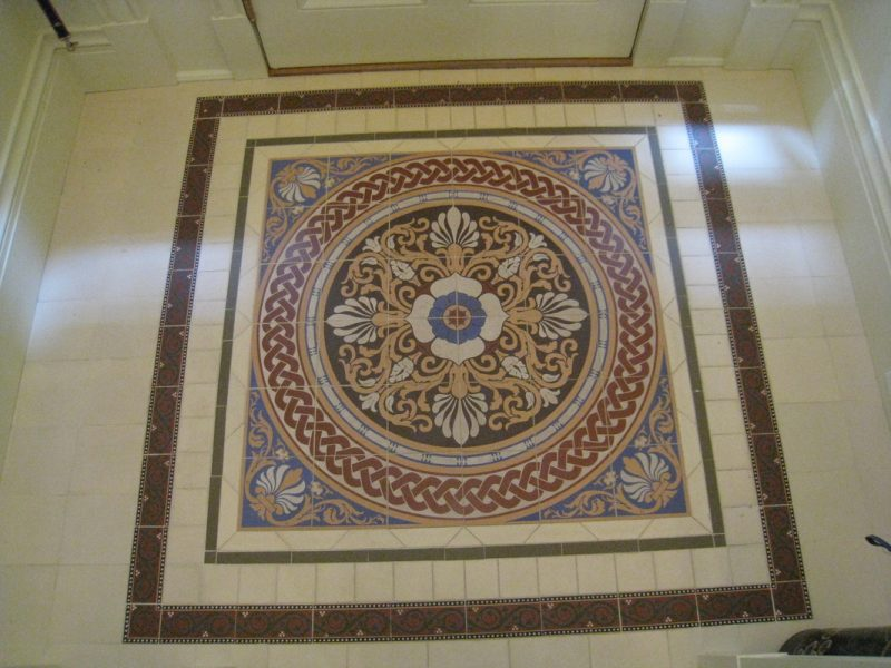 Mosaic entry pattern