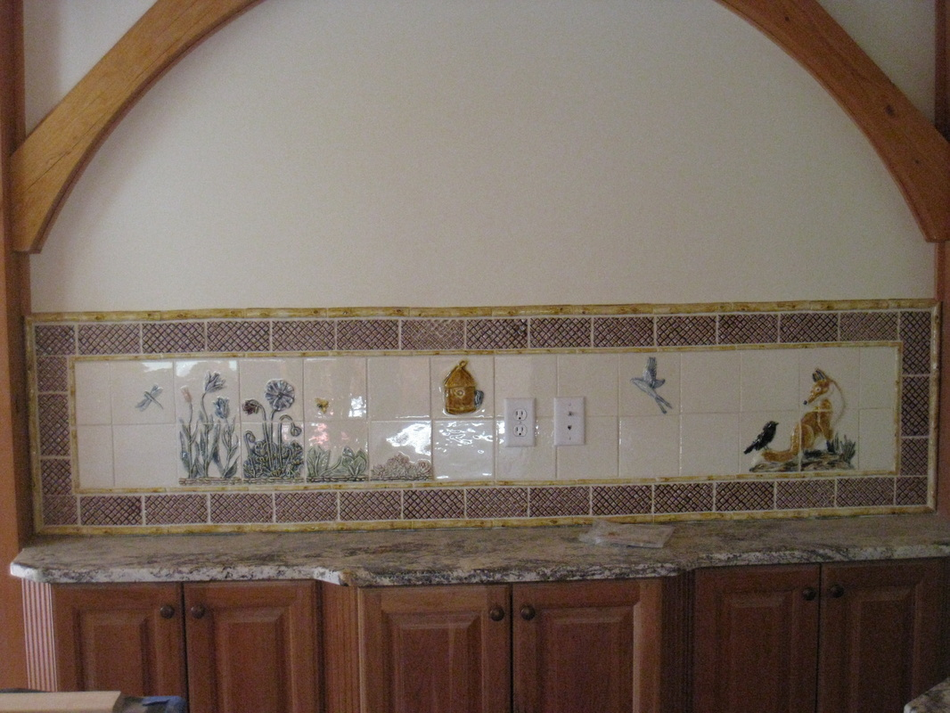 Countertop custom tile relief