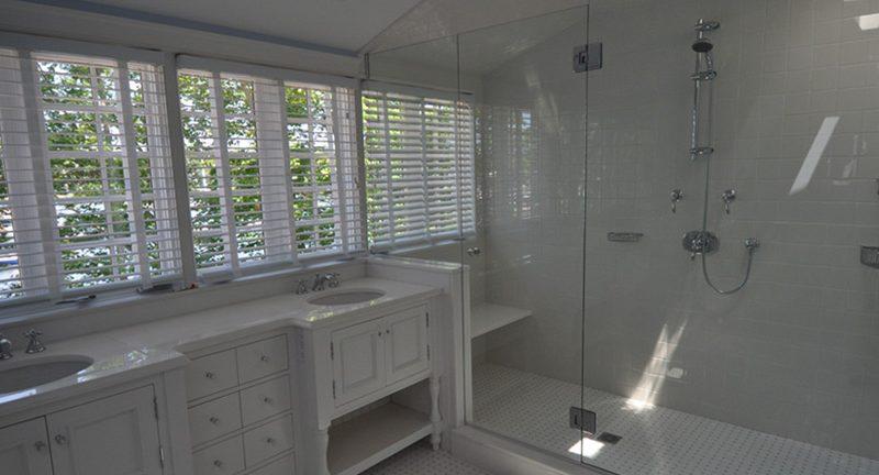 Master bath – White wide view