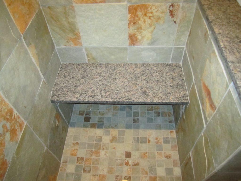 Large Tile Shower – Bench Detail