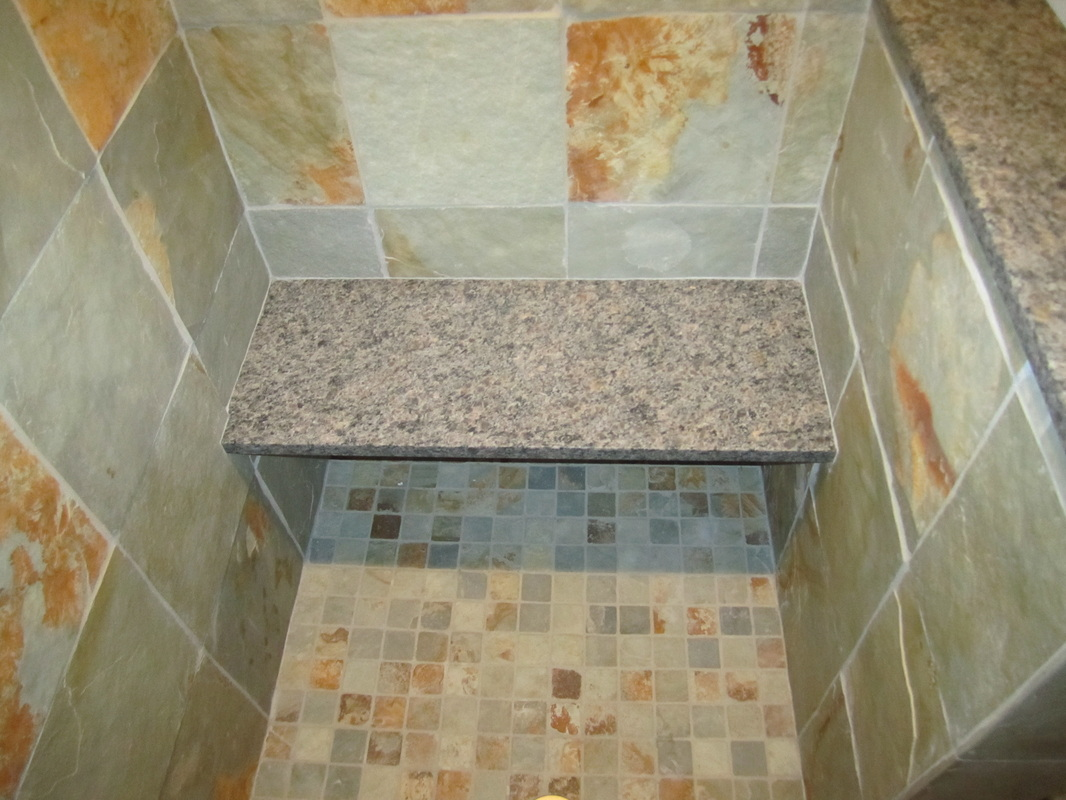 Large Tile Shower – Bench Detail