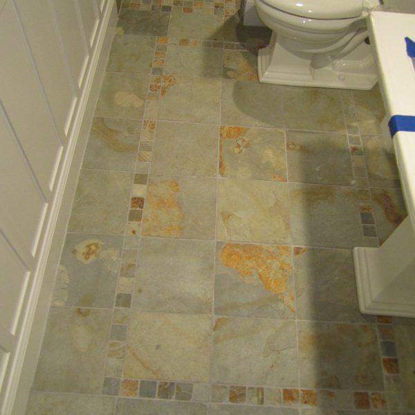 Large Tile Shower – Floor detail