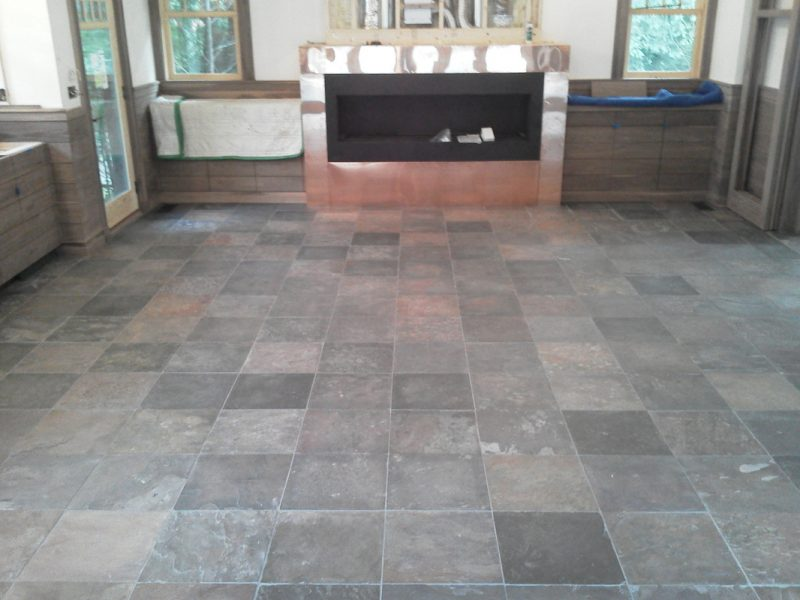 Large tile with hearth