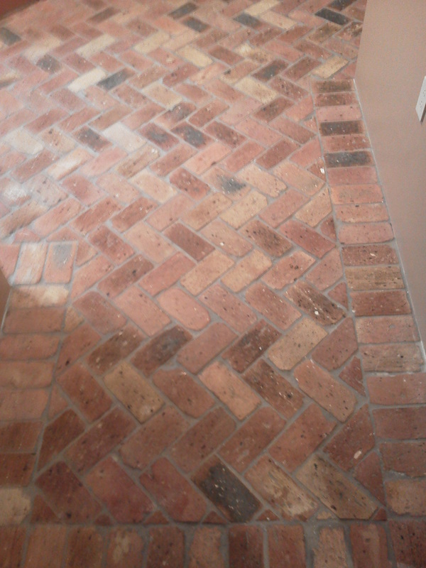 Brick floor detail