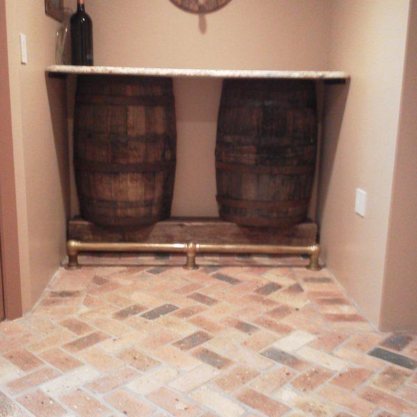 Brick floor interior detail