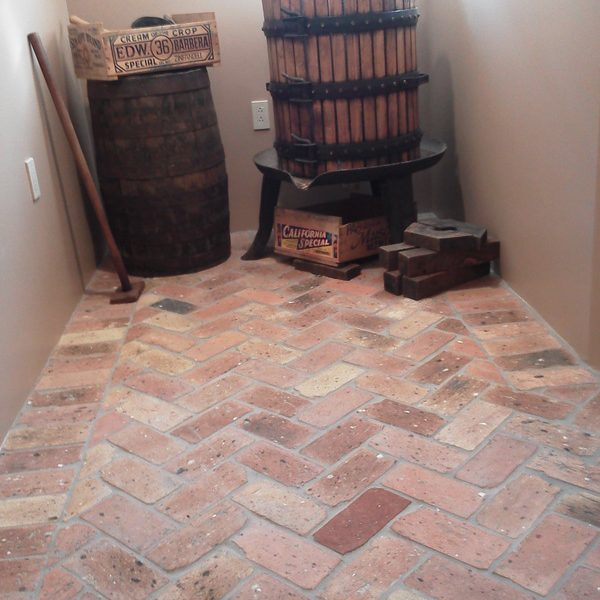 Brick floor interior beauty