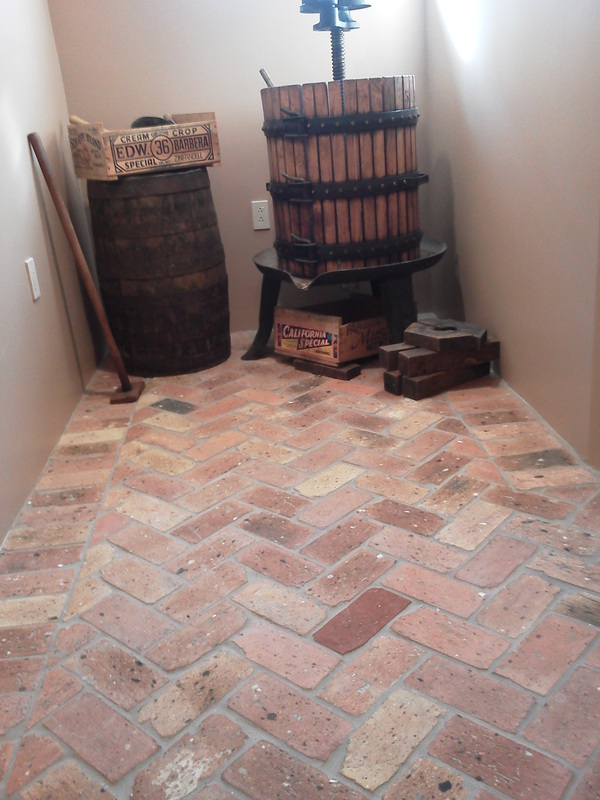 Brick floor interior beauty